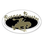 Bronco Buster Oval Sticker
