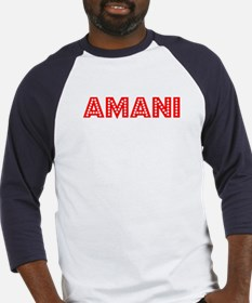Retro Amani (Red) Baseball Jersey