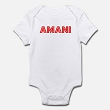 Retro Amani (Red) Onesie