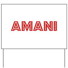 Retro Amani (Red) Yard Sign