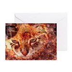 Wood Cat Greeting Cards (Pk of 10)