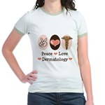Peace Love Dermatology Jr. Ringer T-Shirt