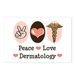 Peace Love Dermatology Postcards (Package of 8)
