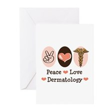 Peace Love Dermatology Greeting Cards (Pk of 10)