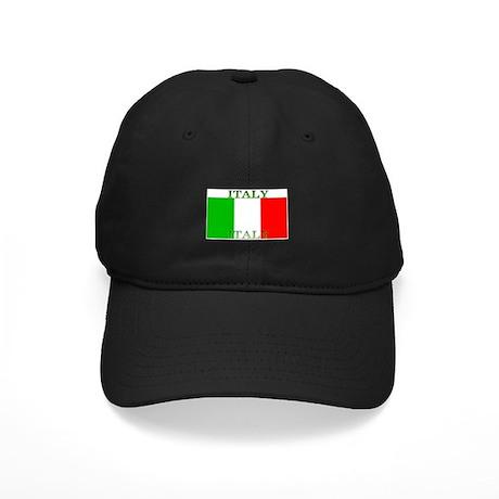 Italy Italian Flag Black Cap