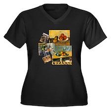 Cezanne Women's Plus Size V-Neck Dark T-Shirt