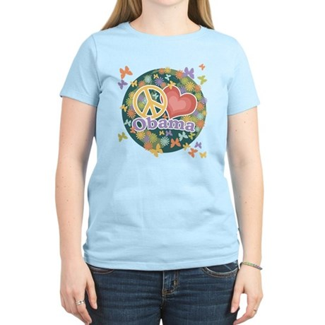 Peace Love Obama [globe] Women's Light T-Shirt