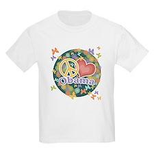 Peace Love Obama [globe] T-Shirt