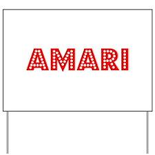 Retro Amari (Red) Yard Sign