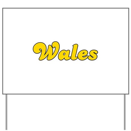 Retro Wales (Gold) Yard Sign