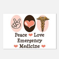 Peace Love ER Doctor Postcards (Package of 8)