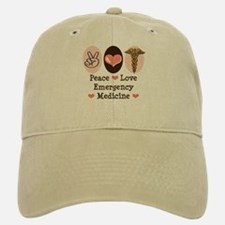 Peace Love ER Doctor Baseball Baseball Cap