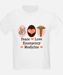 Peace Love ER Doctor T-Shirt