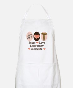 Peace Love ER Doctor BBQ Apron