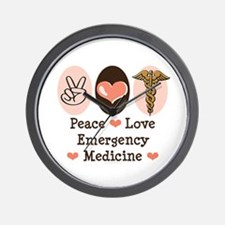 Peace Love ER Doctor Wall Clock