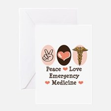 Peace Love ER Doctor Greeting Card