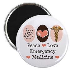 Peace Love ER Doctor Magnet