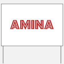 Retro Amina (Red) Yard Sign