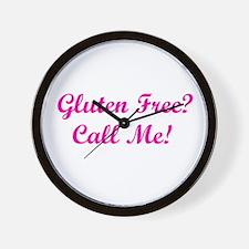 Gluten Free? Call Me! Wall Clock