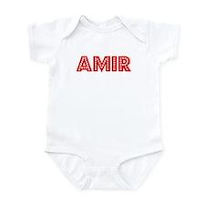 Retro Amir (Red) Infant Bodysuit
