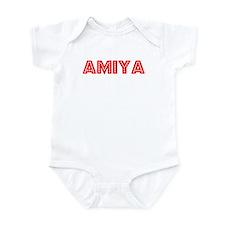 Retro Amiya (Red) Infant Bodysuit