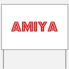 Retro Amiya (Red) Yard Sign