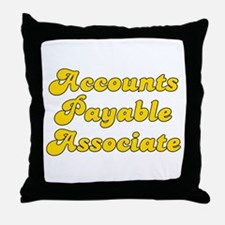 Retro Accounts Pa.. (Gold) Throw Pillow