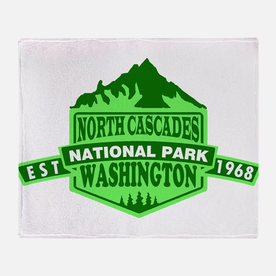 North Cascades - Washington Throw Blanket