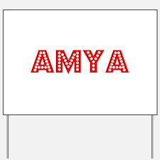 Retro Amya (Red) Yard Sign