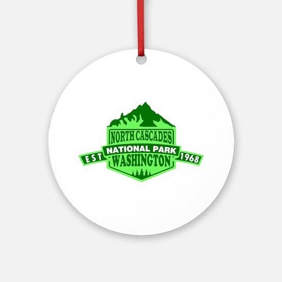 North Cascades - Washington Round Ornament
