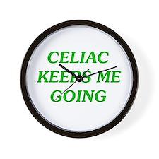 Celiac Keeps Me Going Wall Clock