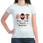 Peace Love Family Medicine Jr. Ringer T-Shirt