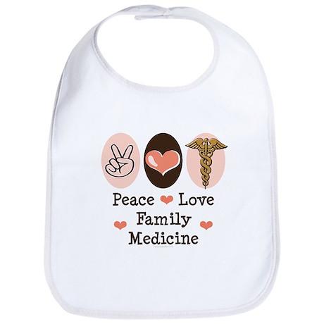 Peace Love Family Medicine Bib
