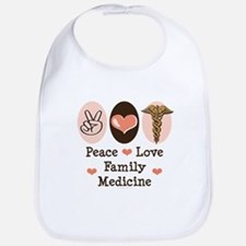Peace Love Family Medicine Bib
