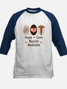 Peace Love Family Medicine Kids Baseball Jersey