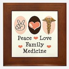 Peace Love Family Medicine Framed Tile