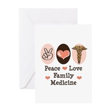 Peace Love Family Medicine Greeting Card