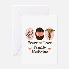 Peace Love Family Medicine Greeting Card