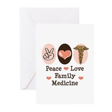 Peace Love Family Medicine Greeting Cards 20 Pk