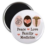 Peace Love Family Medicine Magnet