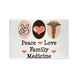 Peace Love Family Medicine Rectangle Magnet (10 pa