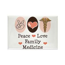 Peace Love Family Medicine Rectangle Magnet