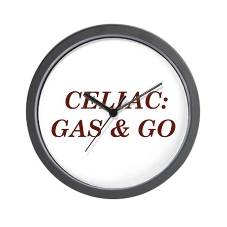Celiac: Gas & Go Wall Clock