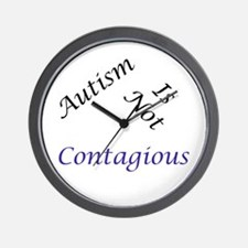 Autism Is Not Contagious Wall Clock