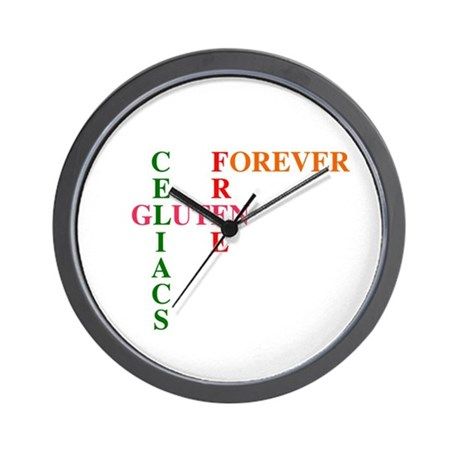 Celiacs Gluten Free Forever Wall Clock