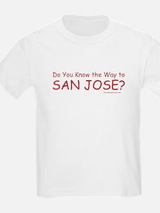 Do U Know the Way to San Jose? Kids T-Shirt