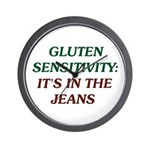 Gluten Sensitivity: It's In The Jeans Wall Clock