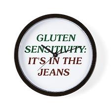 Gluten Sensitivity: It's In The Jeans Wall Clock