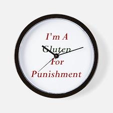Gluten for Punisment Wall Clock