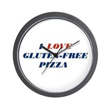 I Love Gluten-Free Pizza Wall Clock